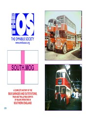 SOUTH.MOG A complete history of Bus Garages and Outstations, Tram & Trolley-bus Depots of major Operators in the South of England