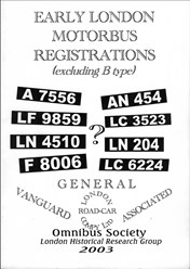 Early London Motorbus Registrations (excluding B-type)