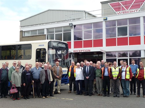 NW Y Members Visit To Wright Bus Factory Northern Ireland June 2011 Meeting Company Owner Mr Wright